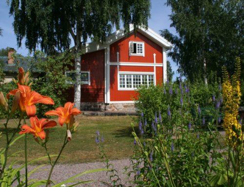 Lopend naar het huis van schilder Carl Larsson