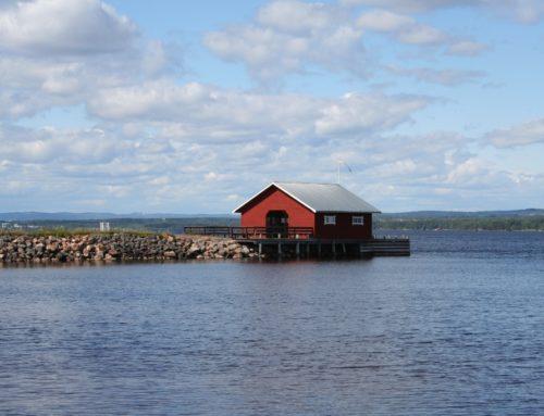 Eilandwandeling in het Siljan-meer