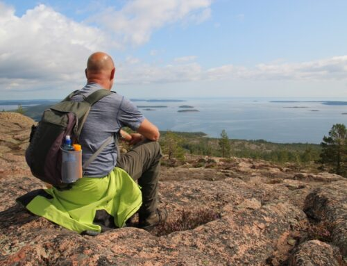 De groeiende eilanden van de Zweedse Hoge Kust